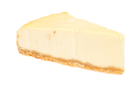 Cheesecake isolated on white background